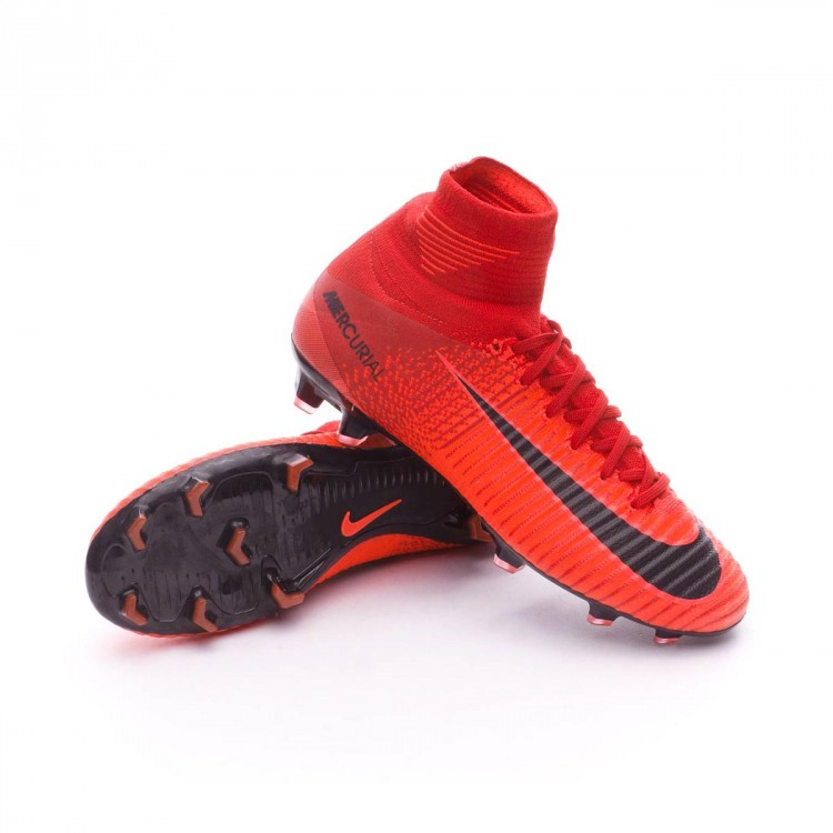 Bota Nike Mercurial Superfly V DF FG Niño University red-Bright crimson-Black