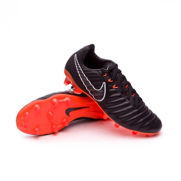 Bota Nike Tiempo Legend VII Elite FG Niño Black-Total orange-Black-White