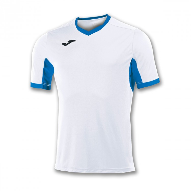 Camiseta Joma Champion IV m/c Blanco-Azul royal