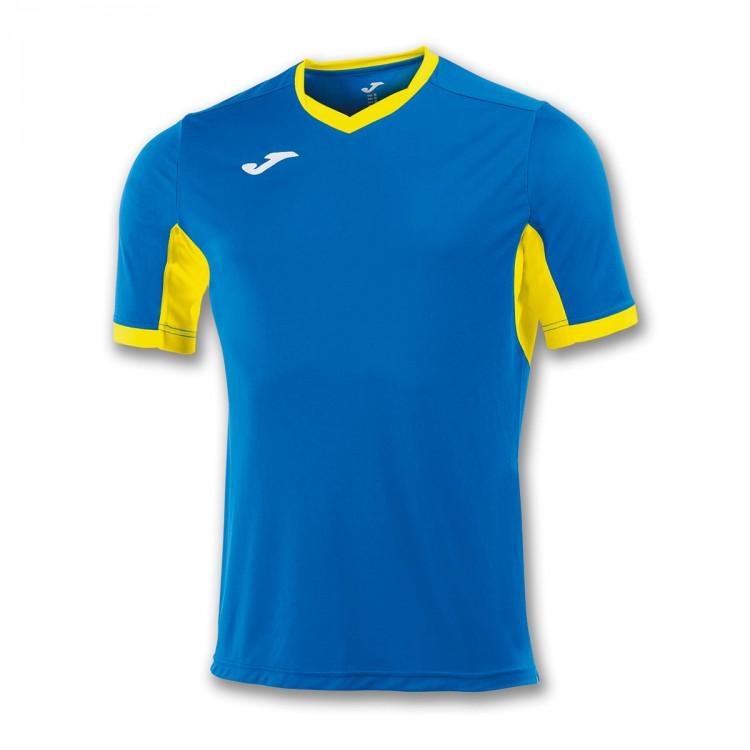 Camiseta Joma Champion IV m/c Royal-Amarillo