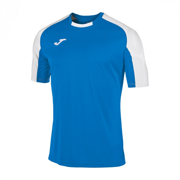 Camiseta Joma Essential m/c Azul royal- Blanco