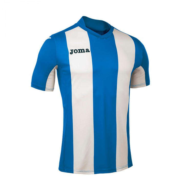 Camiseta Joma Pisa m/c Royal-Blanco