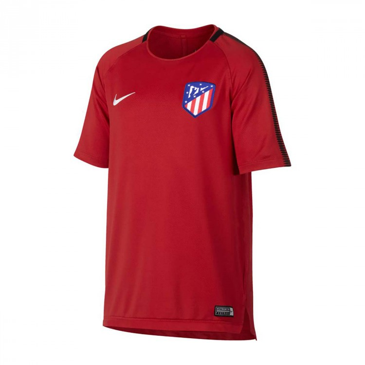 Camiseta Nike Atlético de Madrid Squad 2017-2018 Niño Sport red-Black-White