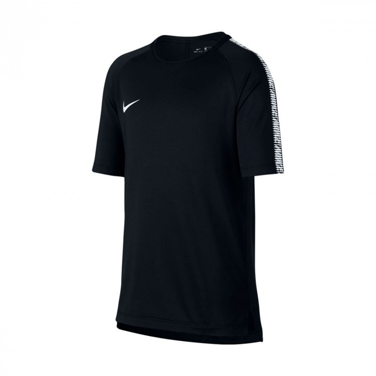 Camiseta Nike Breathe Squad Top Niño Black-White