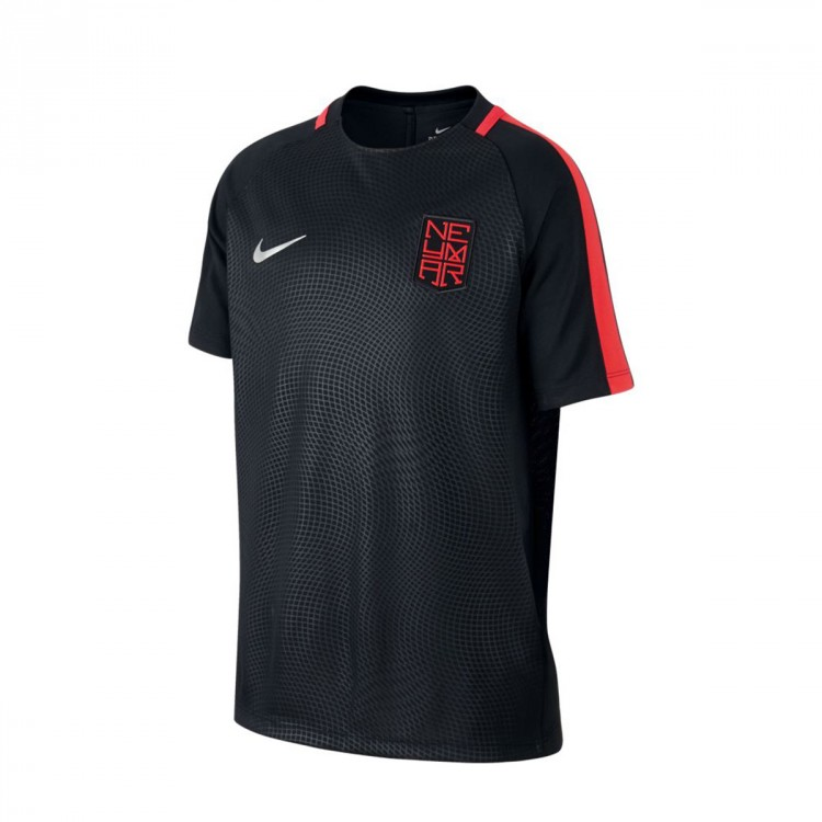 Camiseta Nike Dry Neymar Niño Black-Max orange-Metallic silver
