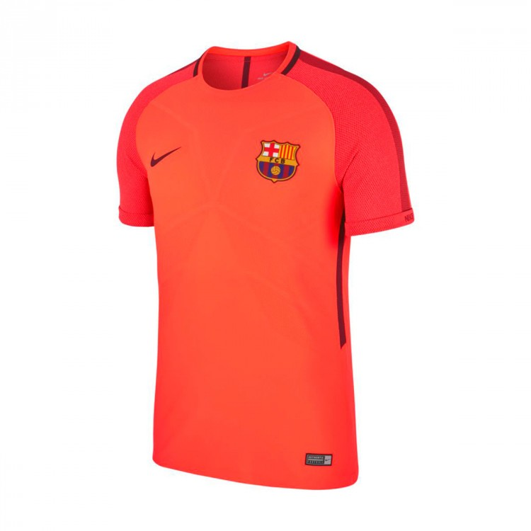 Camiseta Nike FC Barcelona Aeroswift Strike 2017-2018 Hypercrimson-Night marron