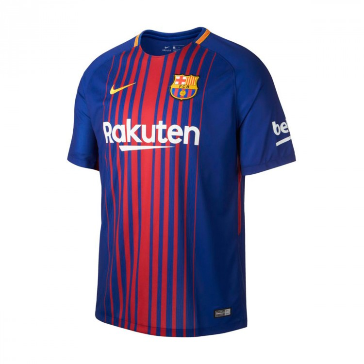 Camiseta Nike FC Barcelona Breathe Stadium Primera Equipación 2017-2018 Deep royal blue-University gold