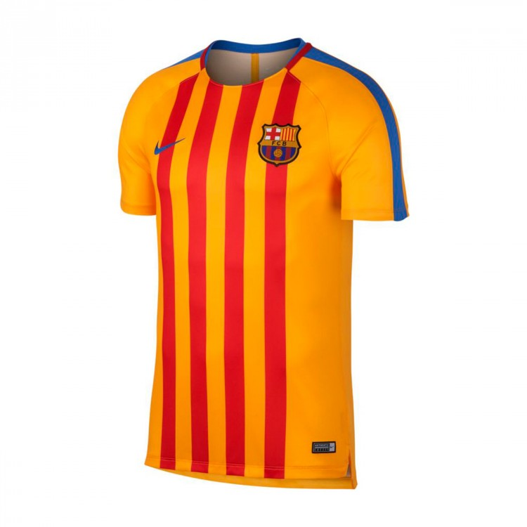 Camiseta Nike FC Barcelona Pre-Match 2017-2018 University gold-Game royal