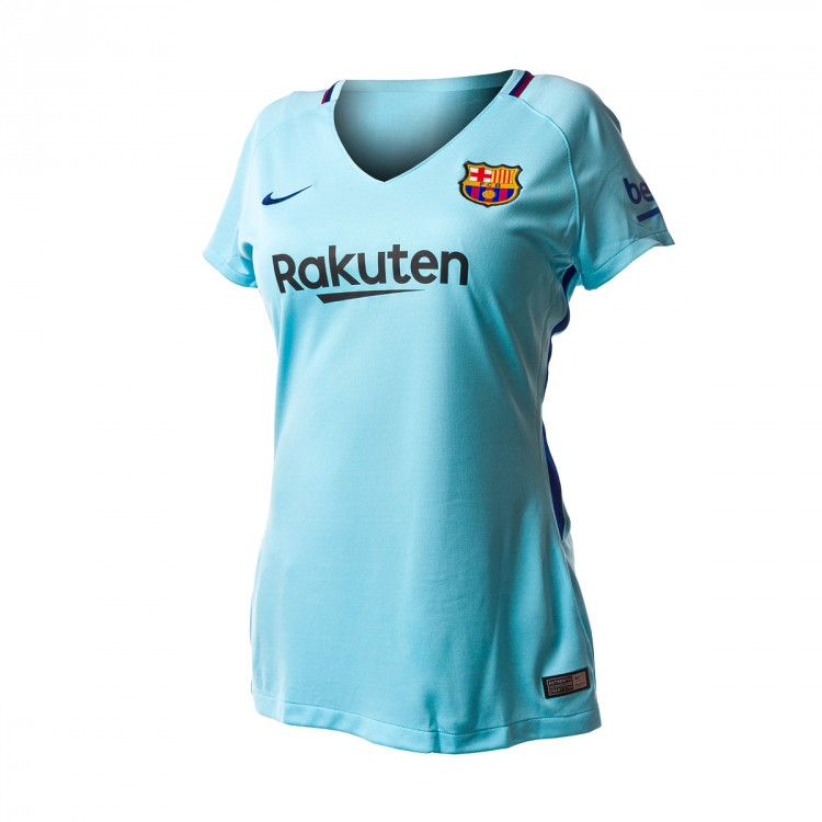 Camiseta Nike FC Barcelona Stadium SS Segunda Equipación 2017-2018 Mujer Polarized blue-Deep royal blue