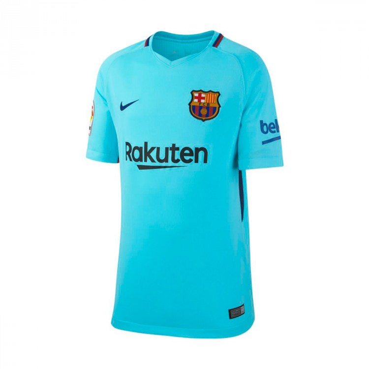Camiseta Nike FC Barcelona Stadium SS Segunda Equipación 2017-2018 Niño Polarized blue-Deep royal blue