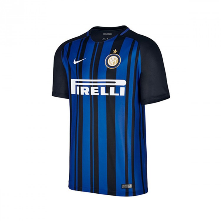 Camiseta Nike Inter Milan Breathe Stadium Primera Equipación 2017-2018 Black-Royal blue-White