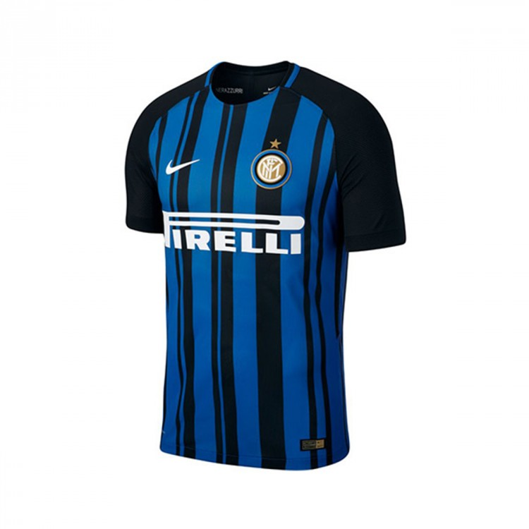 Camiseta Nike Inter Milan Vapor Match Primera Equipación 2017-2018 Black-Royal blue-White