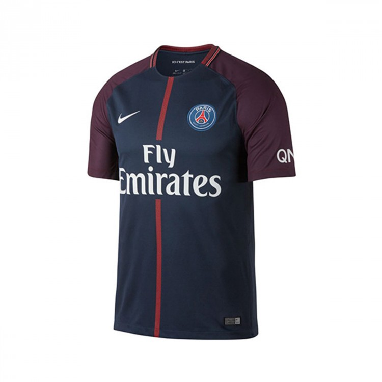 Camiseta Nike Paris Saint-Germain Breathe Stadium Primera Equipación 2017-2018 Midnight navy-White