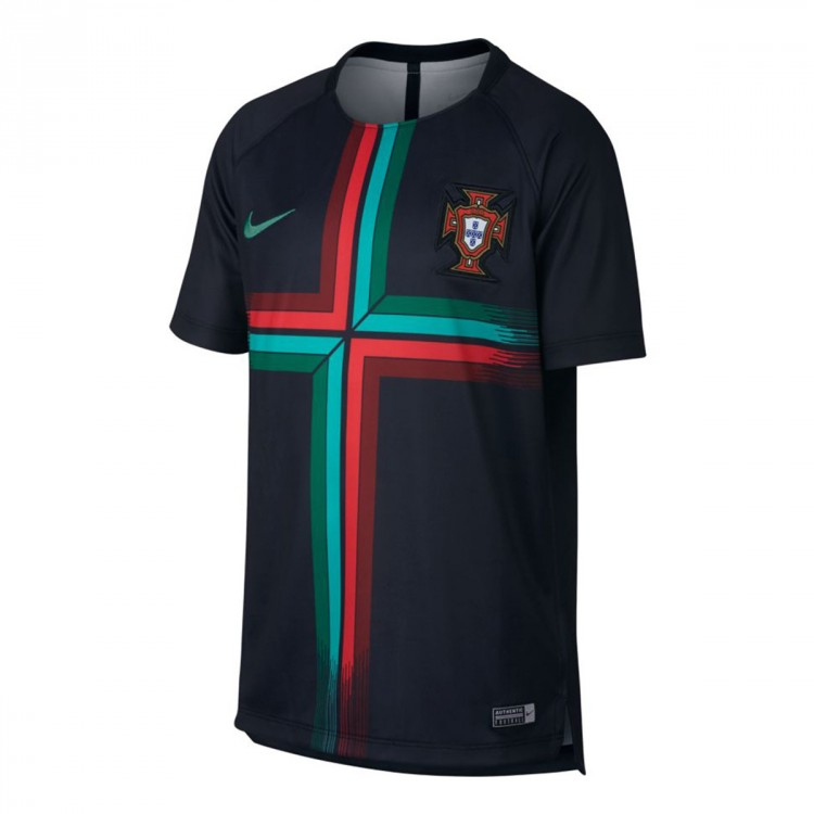 Camiseta Nike Portugal Dry Squad GX 2017-2018 Niño Black-Kinetic green
