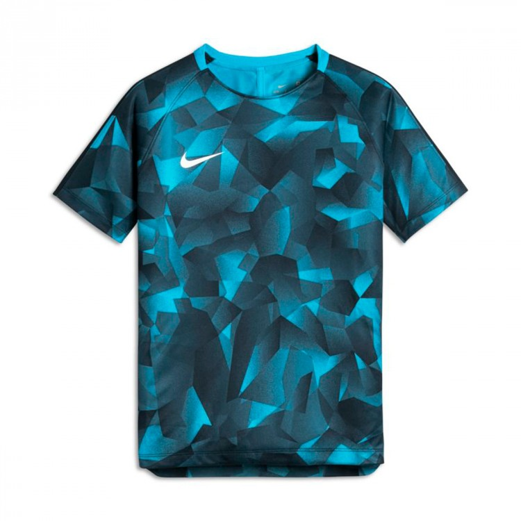 Camiseta Nike Squad Dry SS GX CL Niño Light blue fury-Armory navy-White
