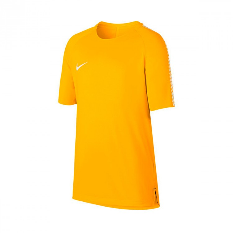 Camiseta Nike Squad Football Niño Laser orange-White