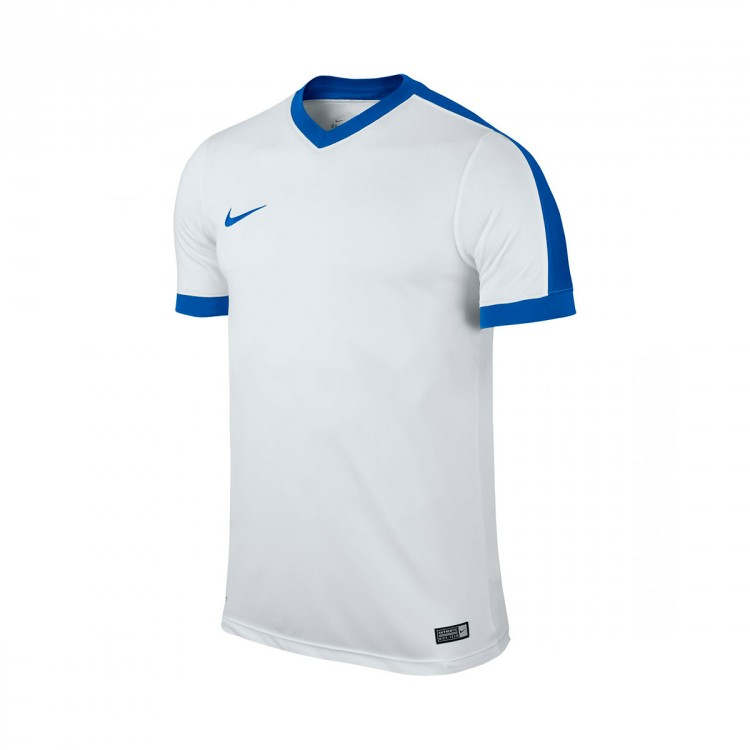 Camiseta Nike Striker IV m/c White-Royal blue