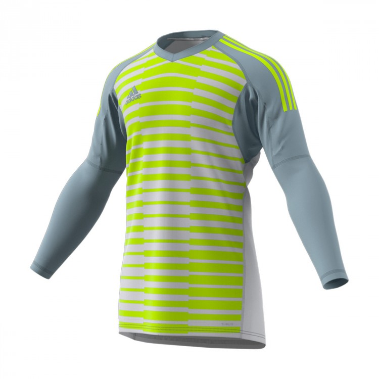Camiseta adidas AdiPro 18 Goalkeeper Longsleeve Light grey-Semi solar yellow