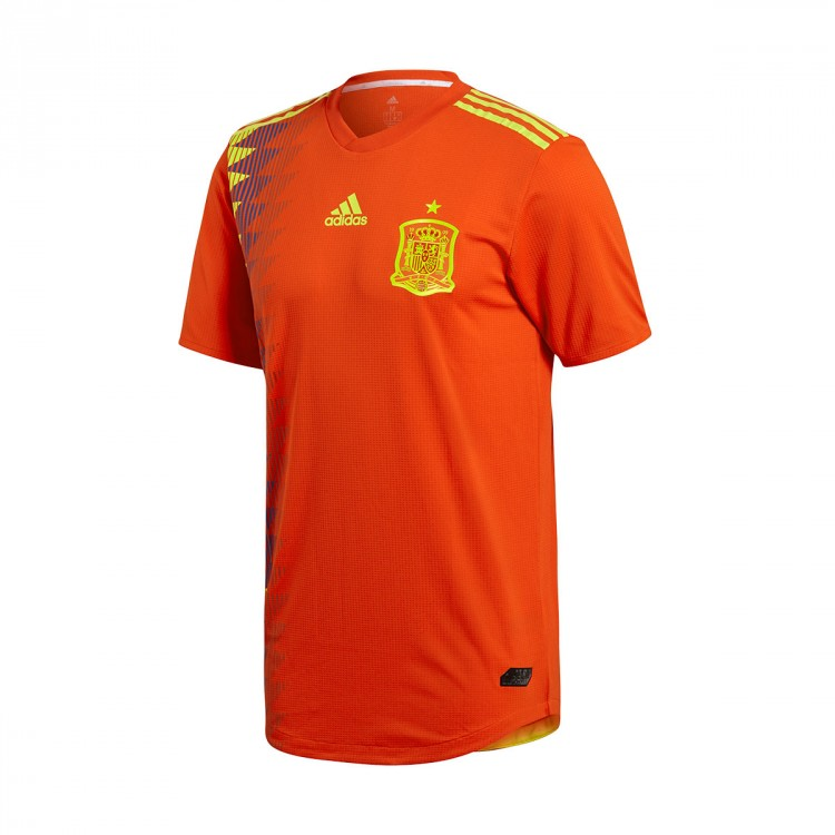 Camiseta adidas Authentic España Primera Equipación 2017-2018 Red-Gold