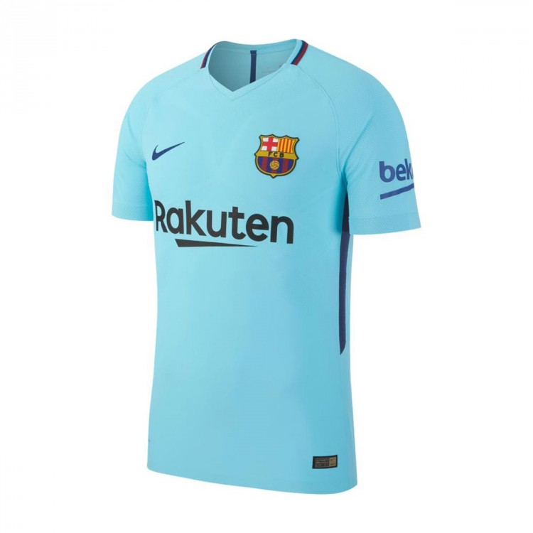 Camiseta Nike FC Barcelona Vapor Match SS Segunda Equipación 2017-2018 Polarized blue-Deep Royal blue