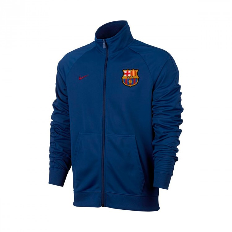 Chaqueta Nike FC Barcelona NSW Crew 2017-2018 Deep royal blue-Noble red