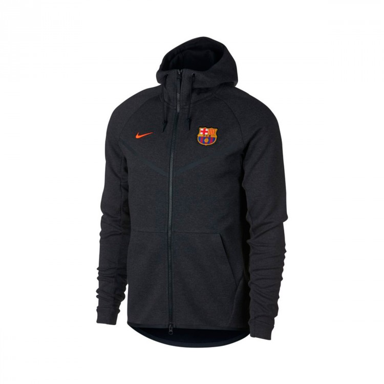 Chaqueta Nike FC Barcelona NSW Tech Fleece 2017-2018 Black heather-Hyper crimson