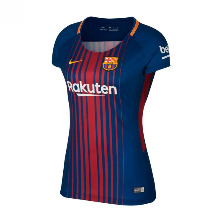 Camiseta Nike FC Barcelona Dry Stadium Primera Equipación Mujer 2017-2018 Deep royal blue-University gold