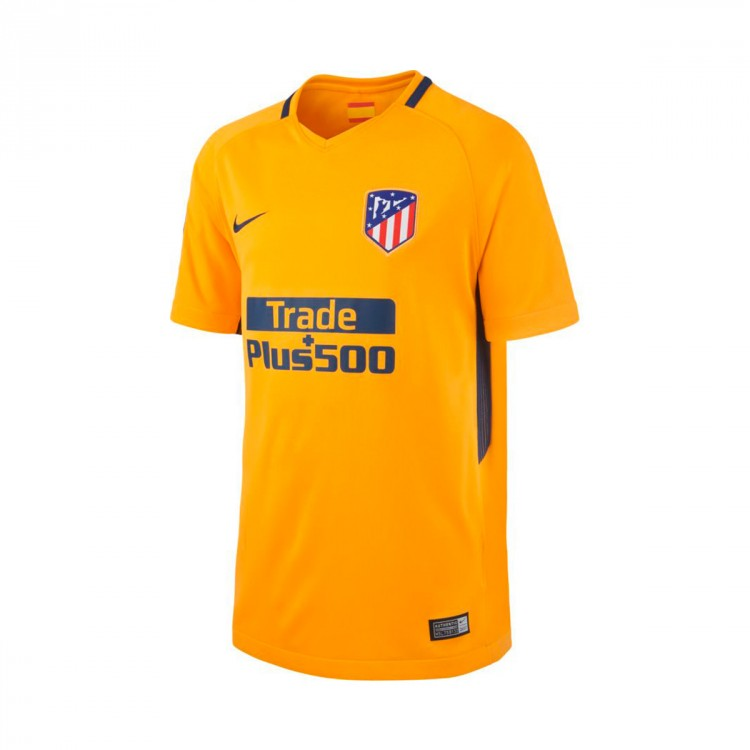 Camiseta Nike Atlético de Madrid Stadium SS Segunda Equipación 2017-2018 Niño University gold-Midnight navy