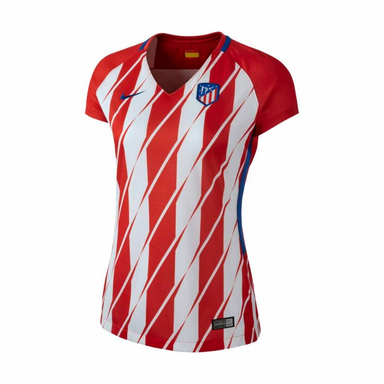 Camiseta Nike Atlético de Madrid Stadium SS Primera Equipación 2017-2018 Mujer Sport red-White-Deep royal blue