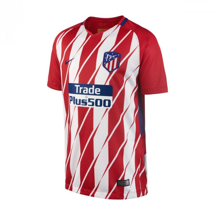 Camiseta Nike Atlético de Madrid Stadium SS Primera Equipación 2017-2018 Niño Sport red-White-Deep royal blue