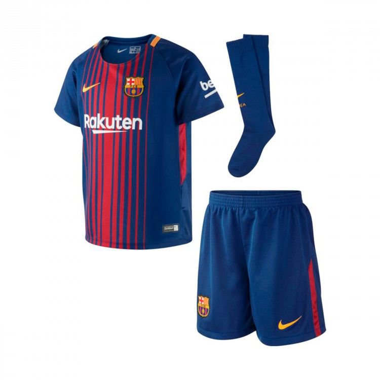 Conjunto Nike FC Barcelona 2017-2018 Niño Deep royal blue-University gold