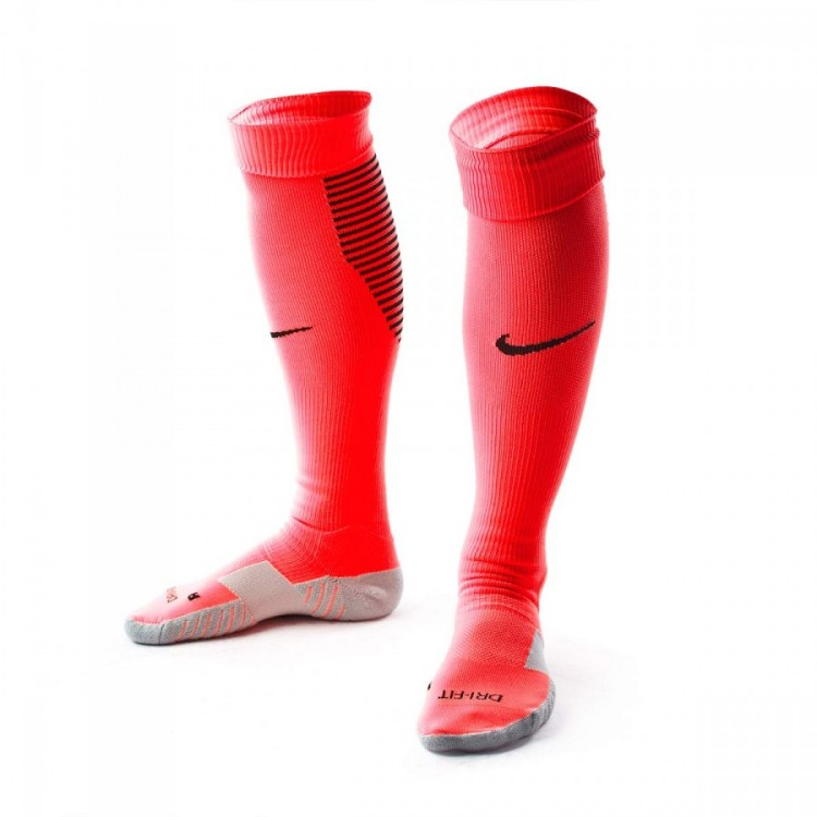 Medias Nike Team Matchfit Core OTC Sock Bright Crimson-Deep Garnet-Black