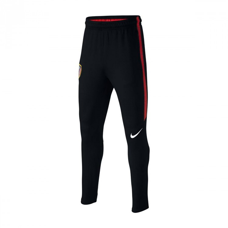 Pantalón largo Nike Atletico de Madrid Dry Squad 2017-2018 Niño Black-Sport red-White