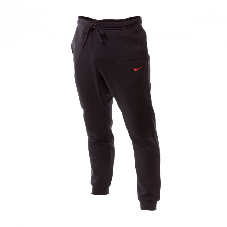 Pantalón largo Nike Atlético de Madrid NSW FLC Crew 2017-2018 Black-Sport red