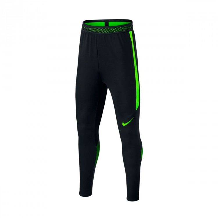 Pantalón largo Nike Dry Strike Niño Black-Electric green