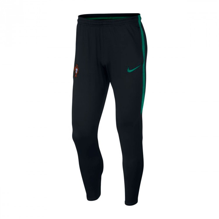 Pantalón largo Nike Portugal Dry Squad 2017-2018 Black-Kinetic green