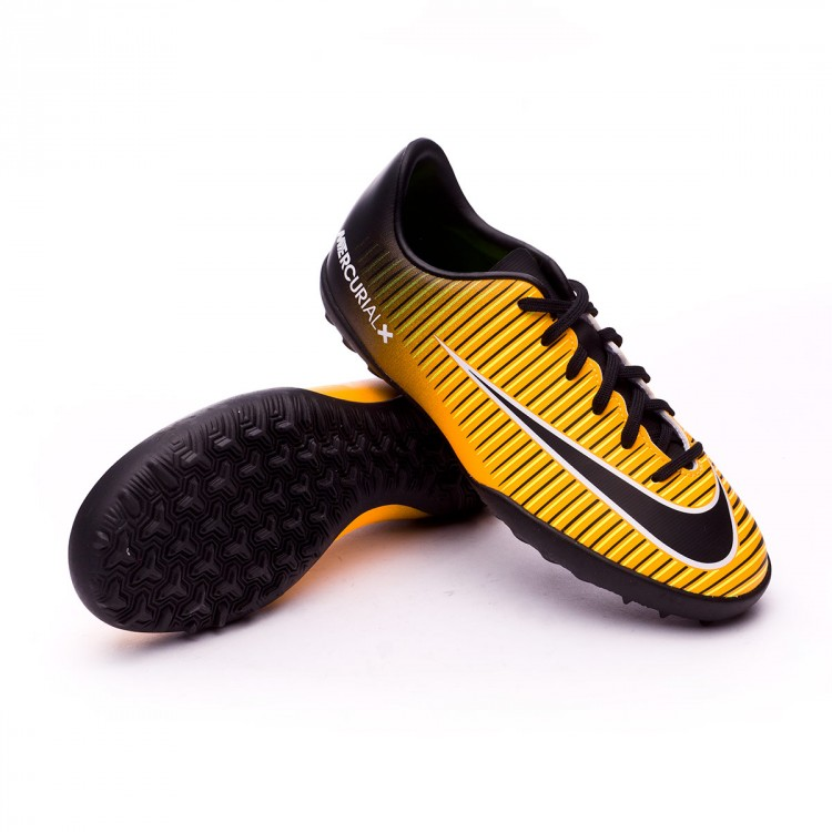 Zapatilla Nike MercurialX Vapor XI Turf Niño Laser orange-Black-White-Volt