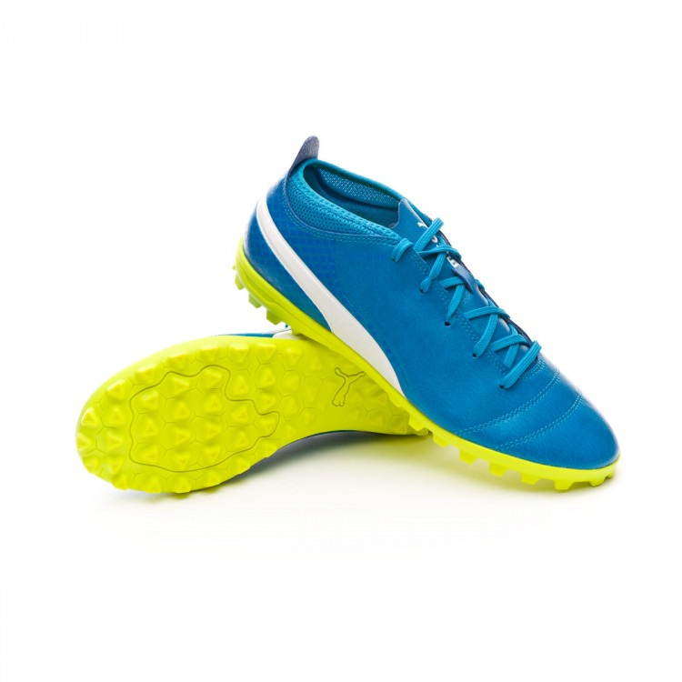 Zapatilla Puma ONE 17.4 TT Niño Atomic blue-Puma white-Safety yellow