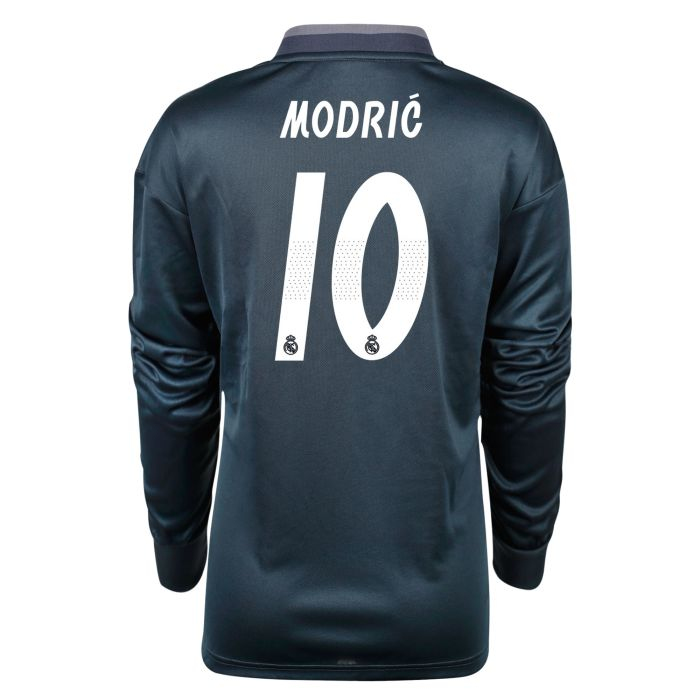 Camiseta segunda Real Madrid Manga Larga LaLiga Modric Junior Gris 2018/2019