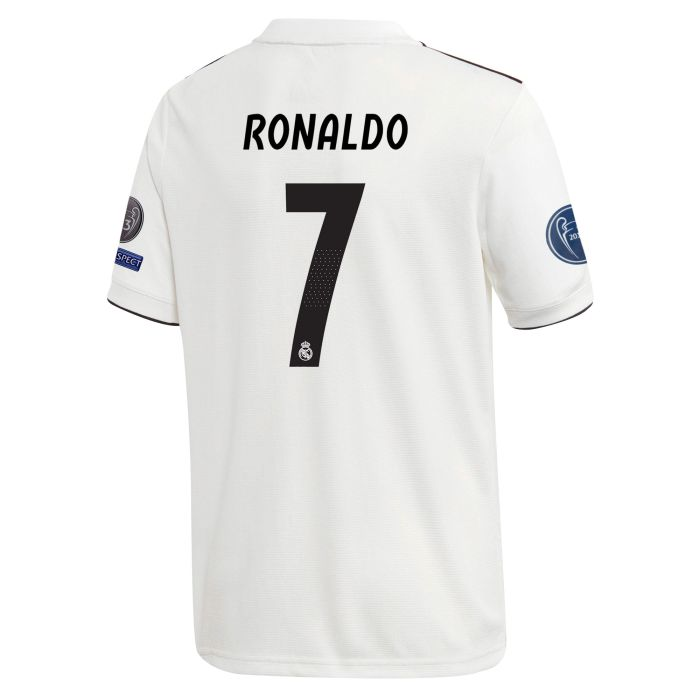 Camiseta primera Real Madrid Junior UCL Ronaldo 2018/2019