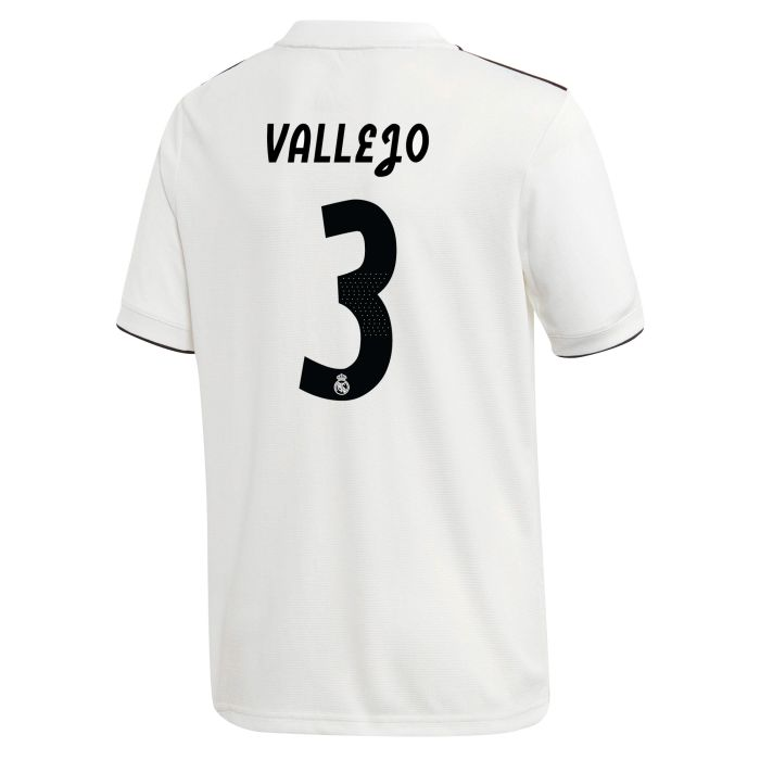 Camiseta primera Real Madrid LaLiga Vallejo Junior 2018/2019