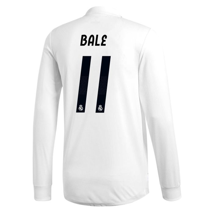 Camiseta primera Real Madrid Manga Larga Bale Junior 2018/2019