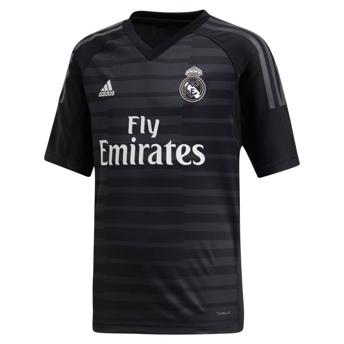 Camiseta primera Real Madrid Portero Junior Negro 2018/2019