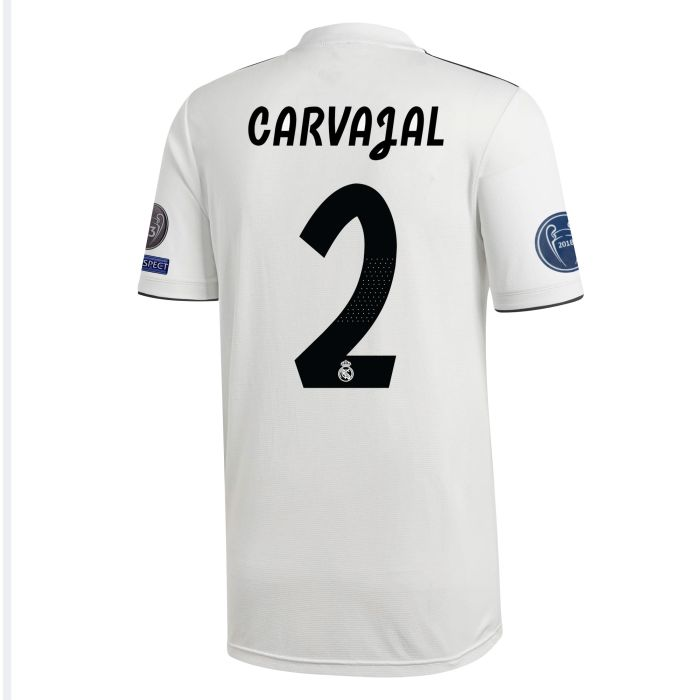 Camiseta primera Real Madrid UCL Carvajal Blanco 2018/2019