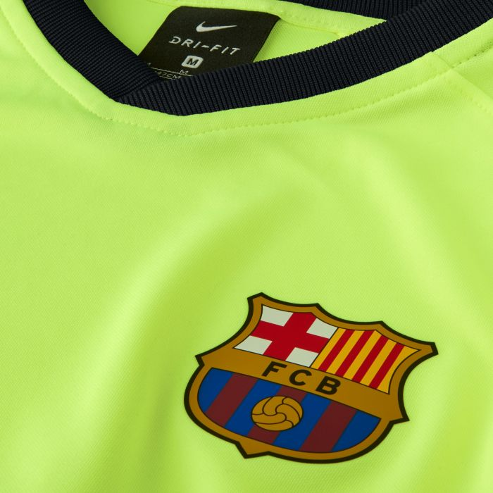 Camiseta segunda FC Barcelona Breathe Piqué Junior Amarillo Fluor 2018 2019 467ec647e1fee