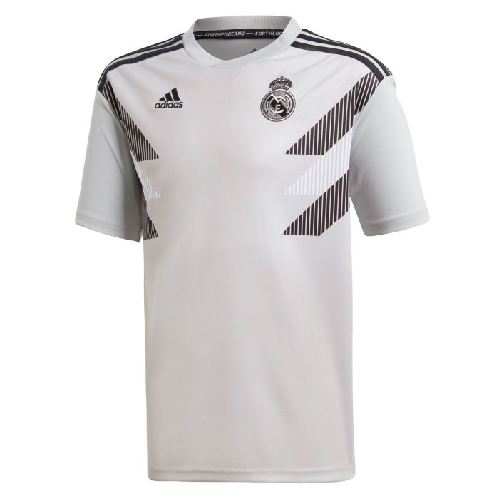 Camiseta Pre-Match Real Madrid Parley Gris 2018/2019