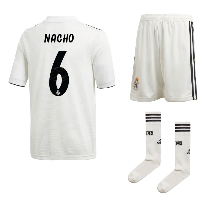 Conjunto primera Real Madrid Nacho Junior 2018/2019