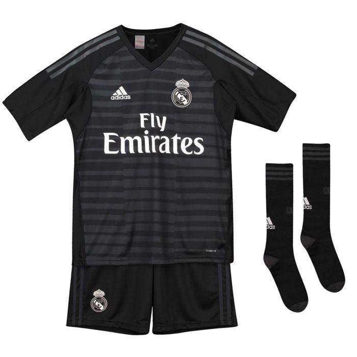 Conjunto primera Real Madrid Portero Junior Negro 2018/2019