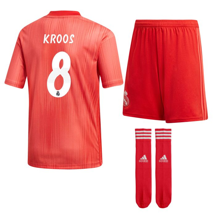 Conjunto tercera Real Madrid Junior Kroos Coral 2018/2019
