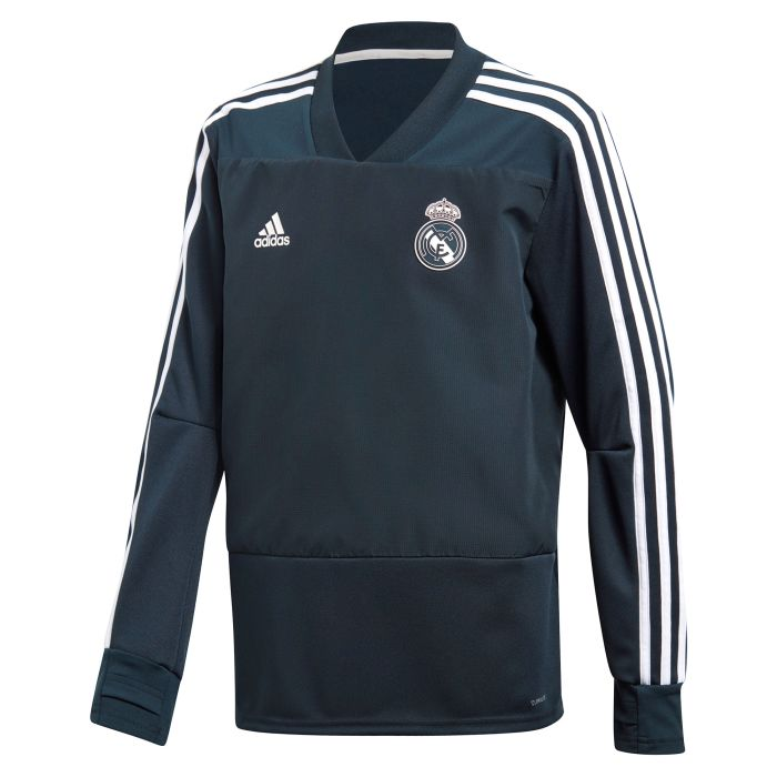 Sudadera de Training Real Madrid Junior Gris 2018/2019